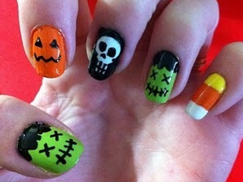 Easy Halloween Nail Design