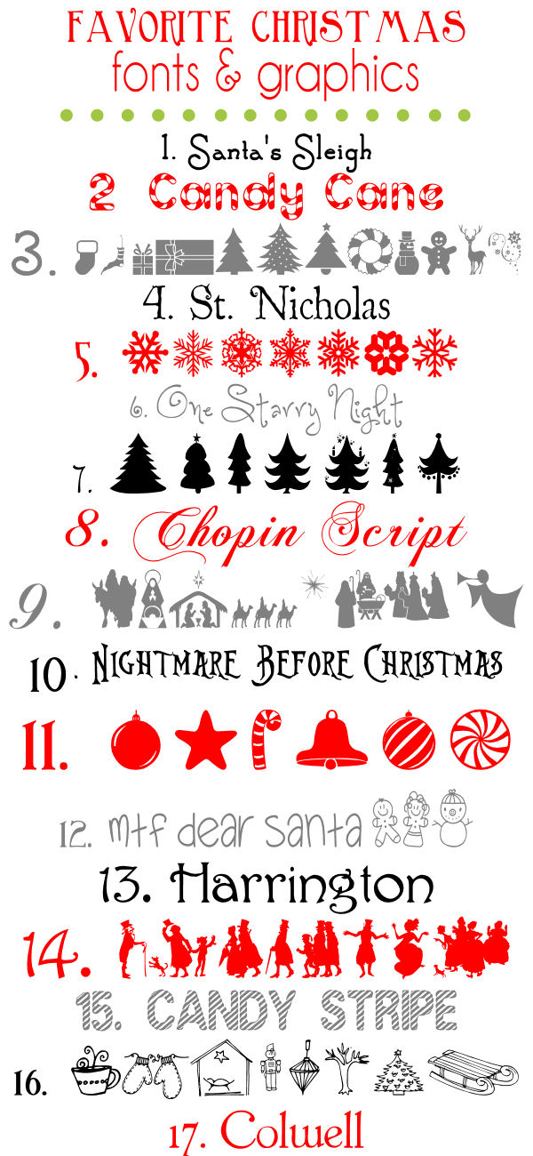 11 Free Christmas Font Clip Art Images