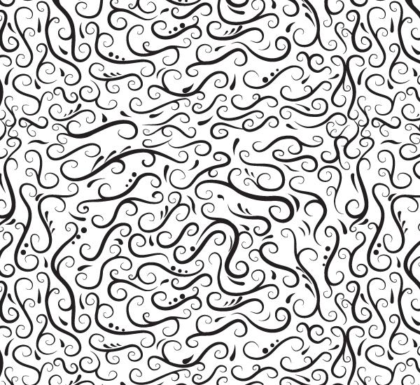 Floral Swirls Vector Patterns