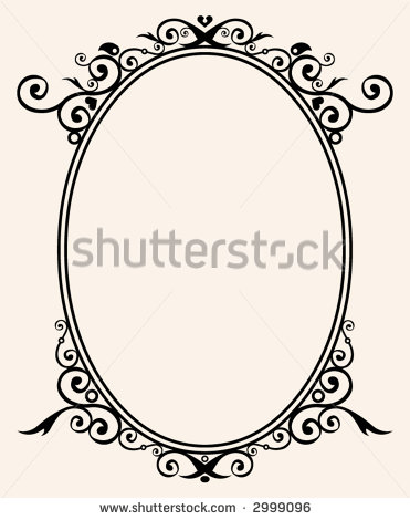 Flourish Oval Frame Clip Art