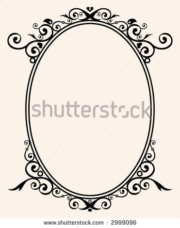 Flourish Oval Frame Clip Art