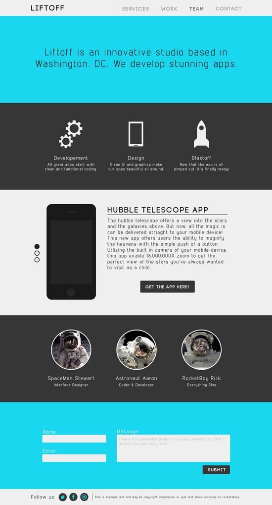 Free App Website Template PSD