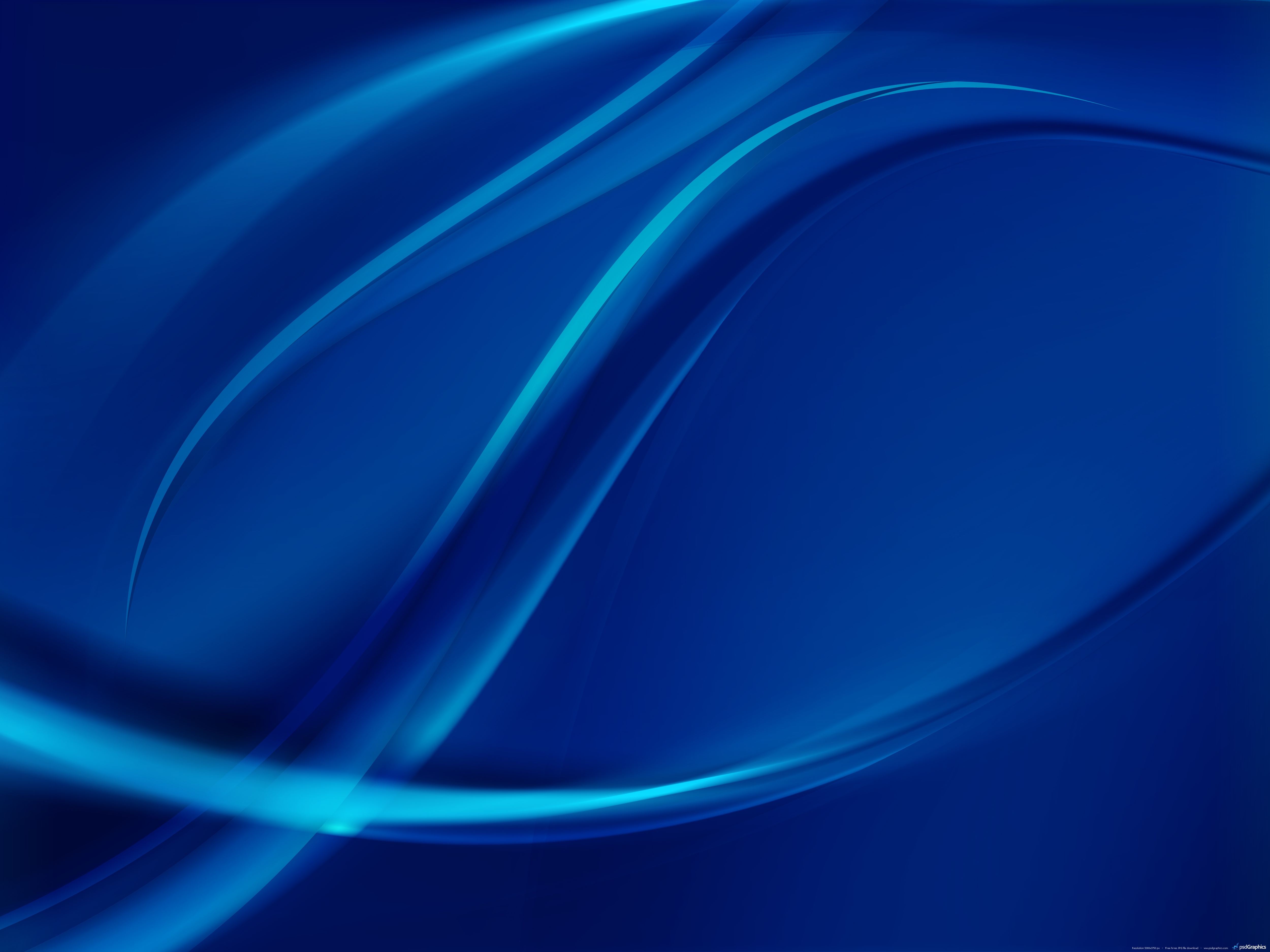 Free Blue Abstract Wave Wallpapers