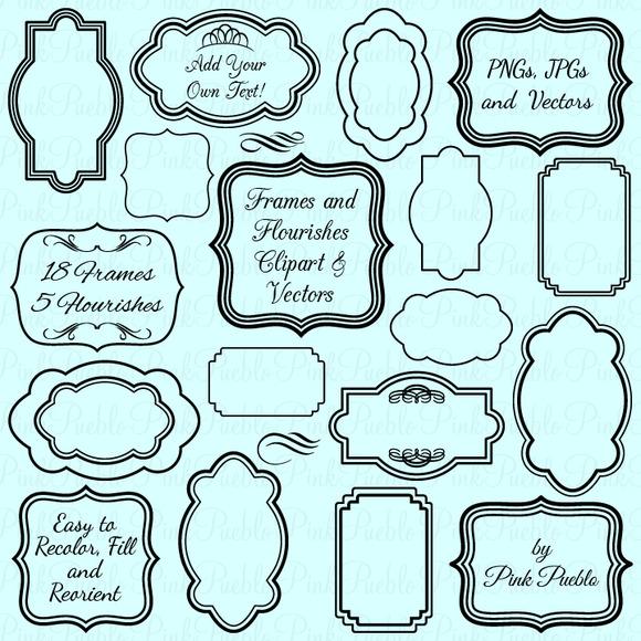 Free Flourish Frame Clip Art