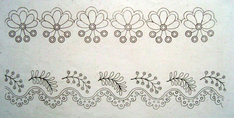 New hand embroidery designs makaroka