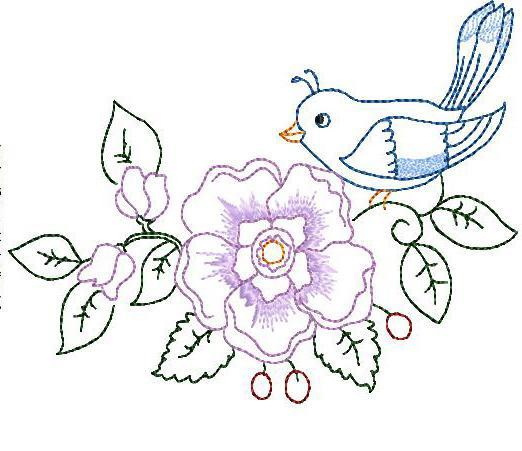 Embroidery Flowers Designs Free Free Hand Embroidery Flower Pattern
