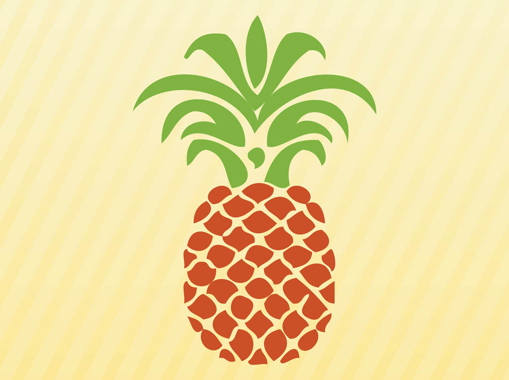 13 Vector Cartoon Pineapple Images