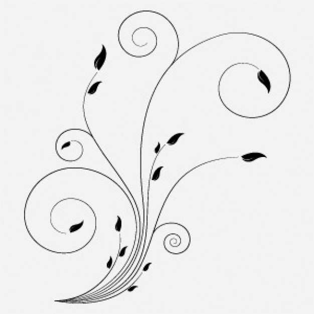 17 Free Vector Swirls And Flowers Images