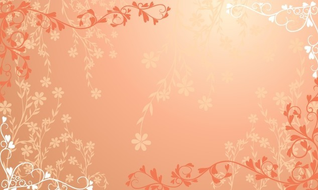 8 Orange Flower Vector Pattern Images