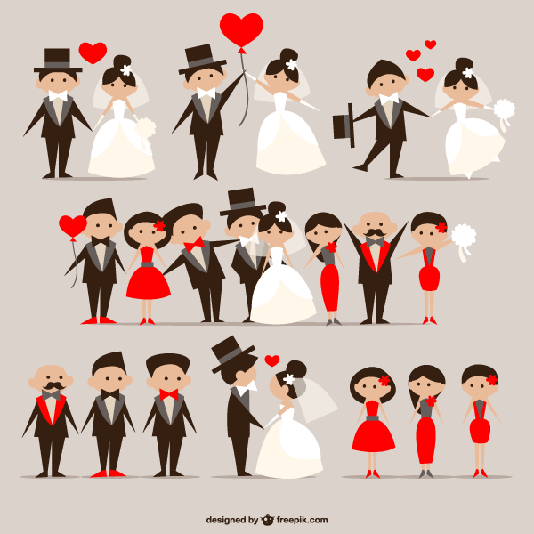 18 Free Vector Cartoon Couple With Images