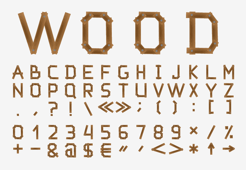 10 Wooden Letter Fonts Images - Letter Fonts That Look Like Wood ...