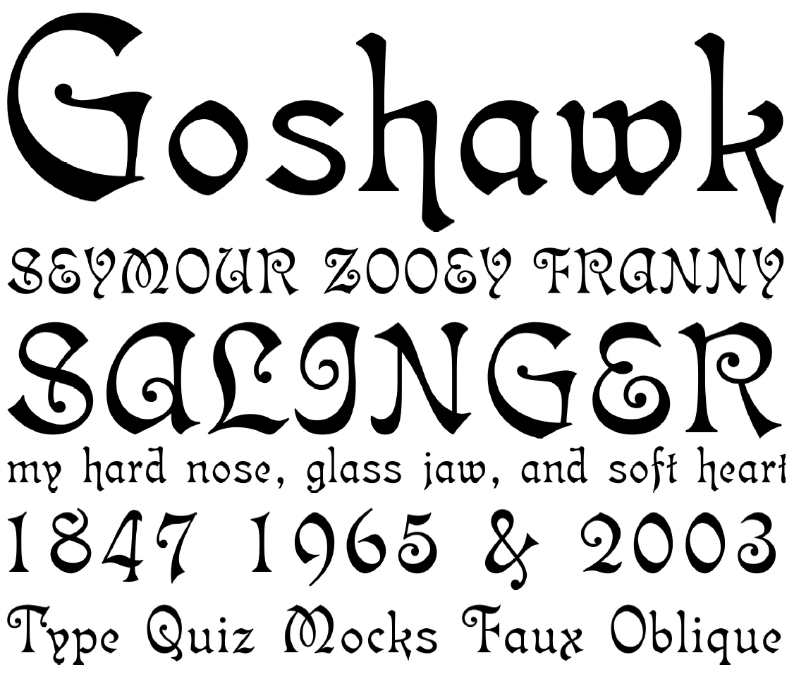 5 Skyclad Gothic Font Calligraphy Images