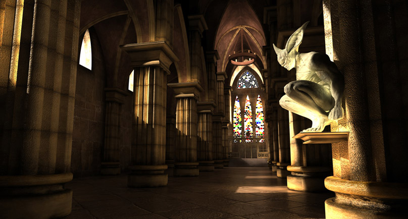 9 PSD Gothic Church Images