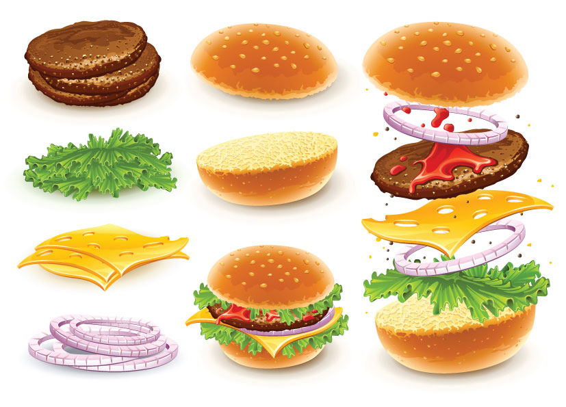 15 Food Hamburger Vector Images