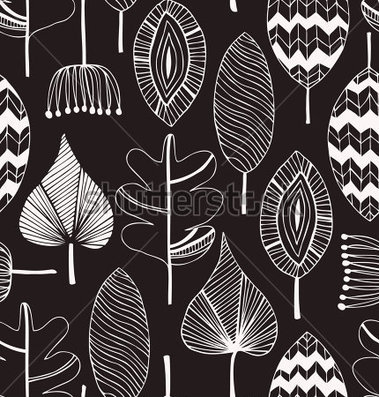 Hand Drawn Black and White Patterns