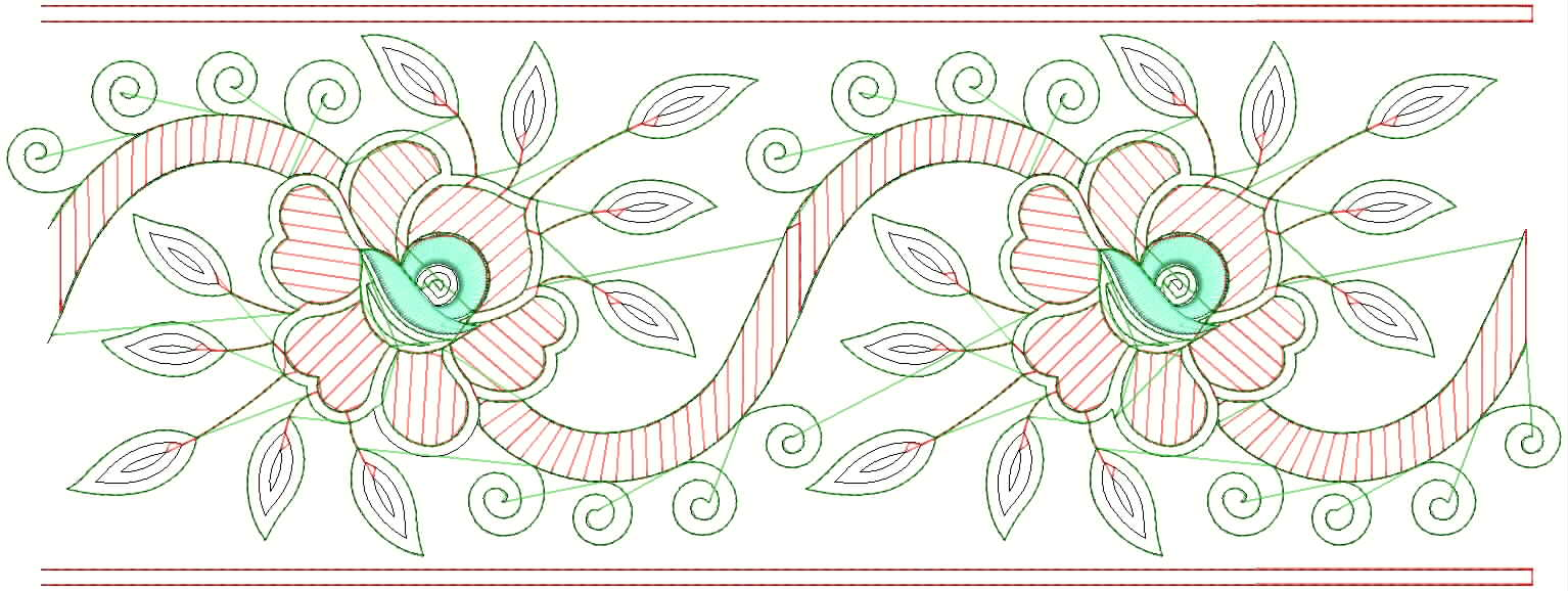 12 Hand Embroidery Border Design Patterns Images - Hand Pattern Embroidery Flower Border Hand ...