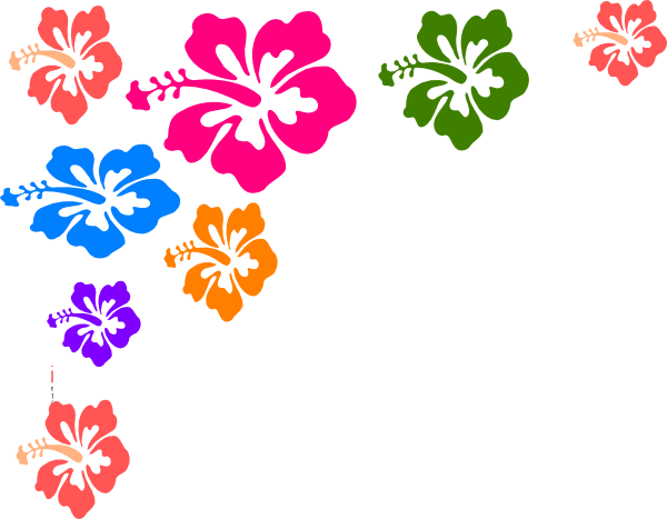 Hawaiian Flower Clip Art Borders Free