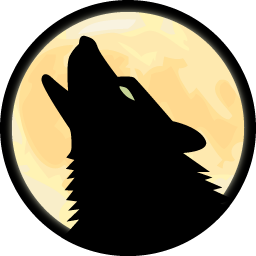 6 Animated Howling Wolf Icon Images