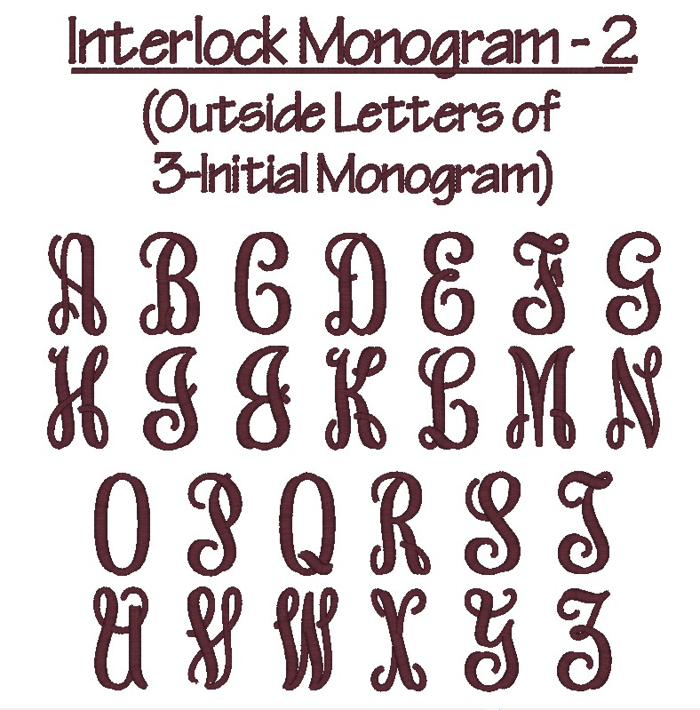 Interlocking Monogram Font for Silhouette