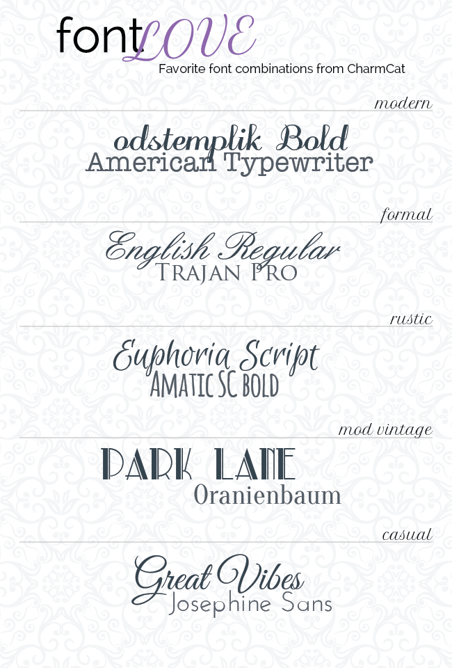 17 Great Font Pairings Images - Top Font Combinations
