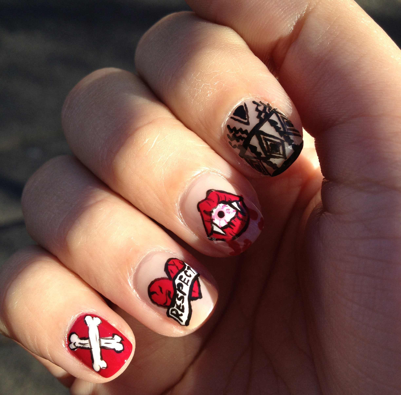 Дизайн ногтей с именами