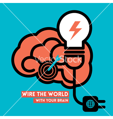 Knowledge Brain Light Bulb Icon