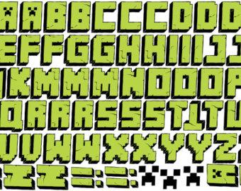 photograph regarding Free Printable Minecraft Letters named 11 Minecraft Font Alphabet Photographs - Minecraft Alphabet