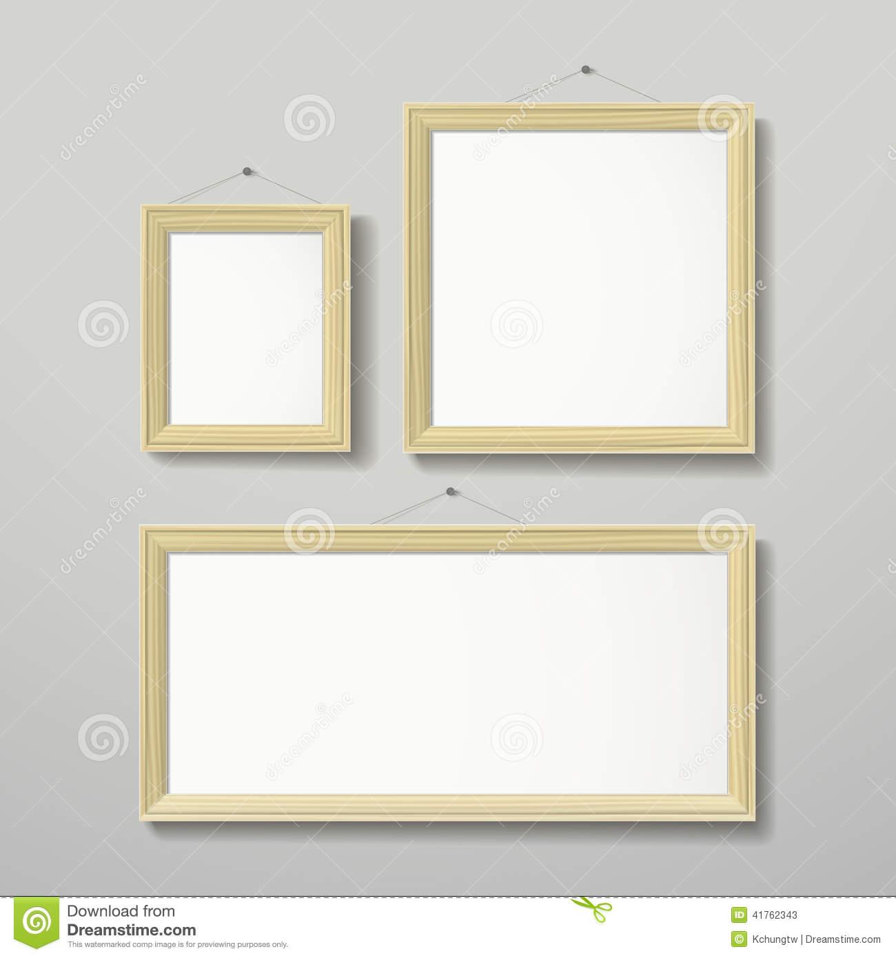Modern Text Frame Vector