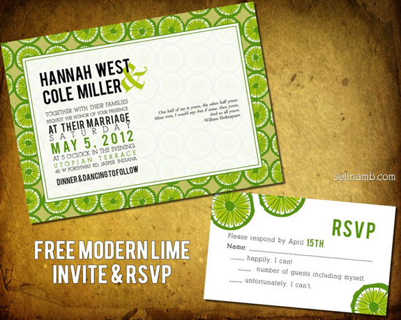 Modern Wedding Invitation Templates Free