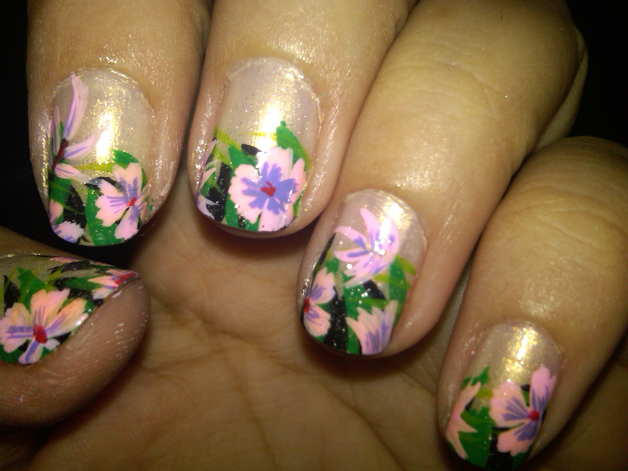 Nails Design with Flowers