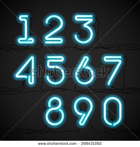 Neon Light Alphabet
