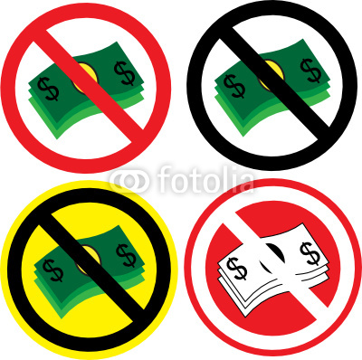 10 Vector No Money Images