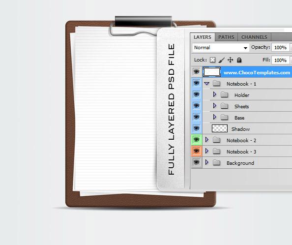 Notebook PSD Template