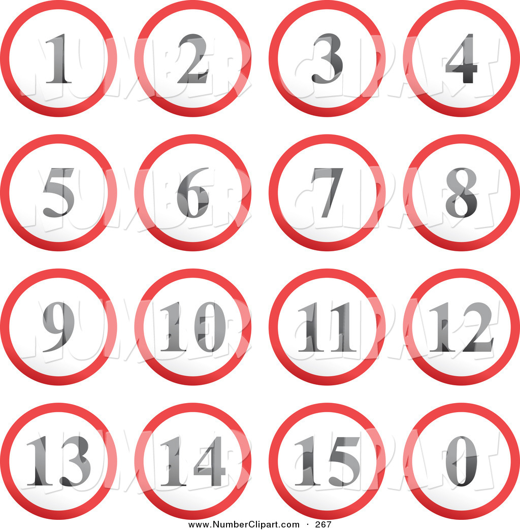 10 Number Button Icons Images