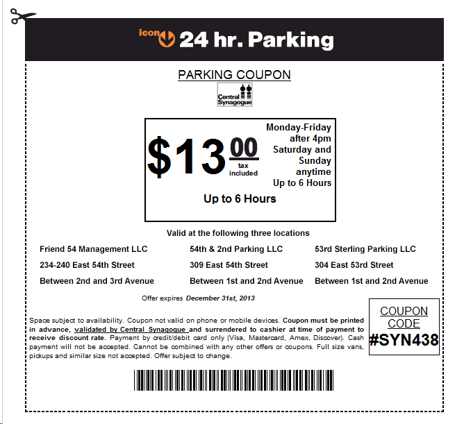 nyc parking coupon    recent discounts