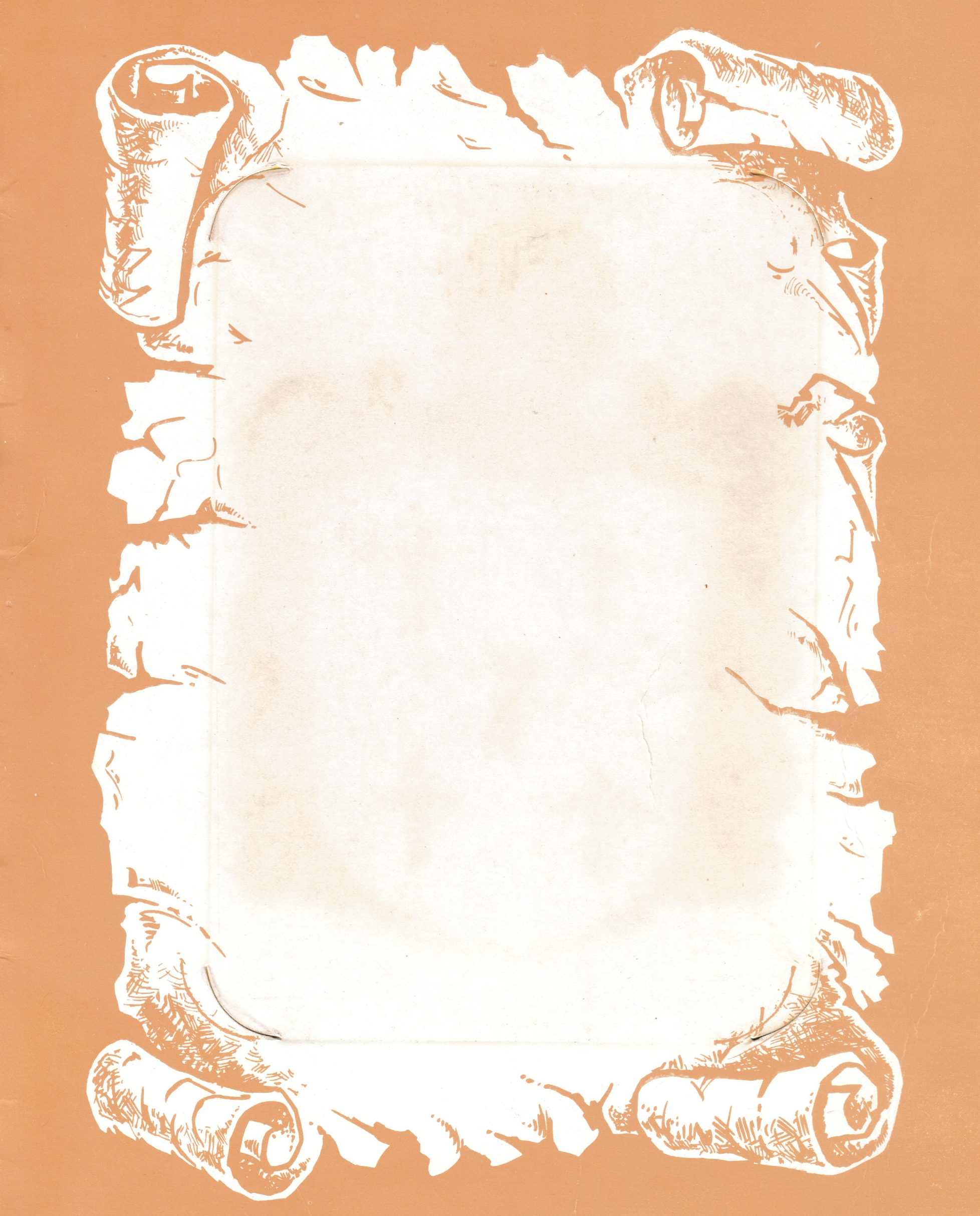 Parchment Scroll Template Free