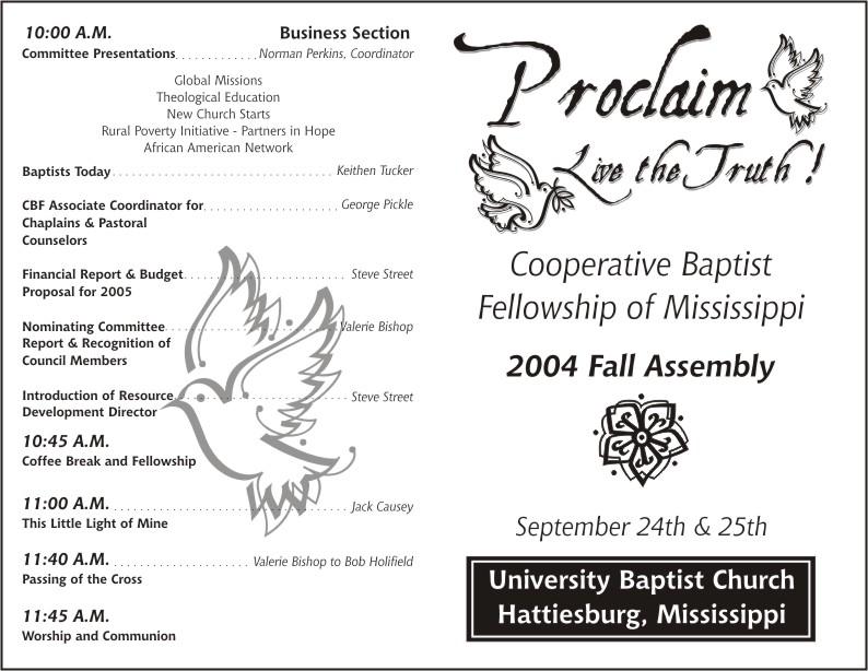 Printable Church Anniversary Program Template