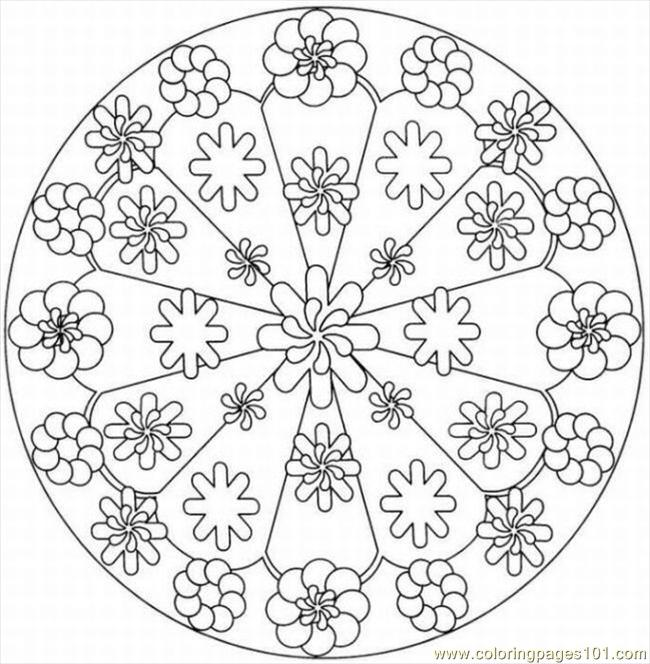 9 Kaleidoscope Design Coloring Pages Images