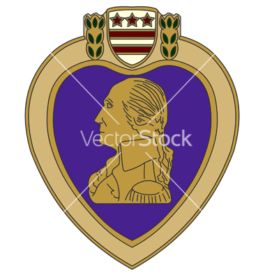 Purple Heart Medal Vector Art