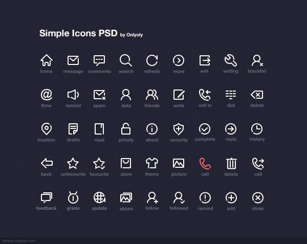Simple Icons Free