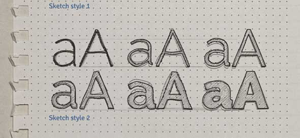 Sketch Text Effect