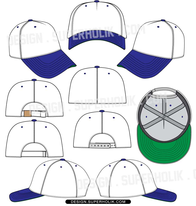 Snapback Hat Design Template