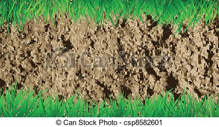 Soil and Grass Clip Art