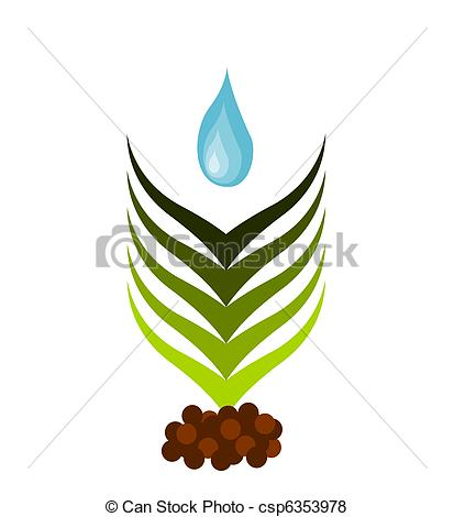 Soil Growing Plants Clip Art