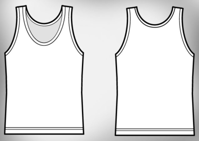 6 Tank Top Template PSD Images