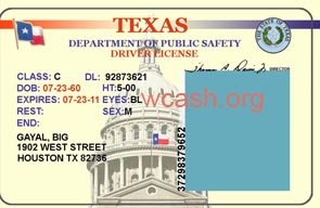 10 State ID Card PSD Template Images - Texas Drivers License