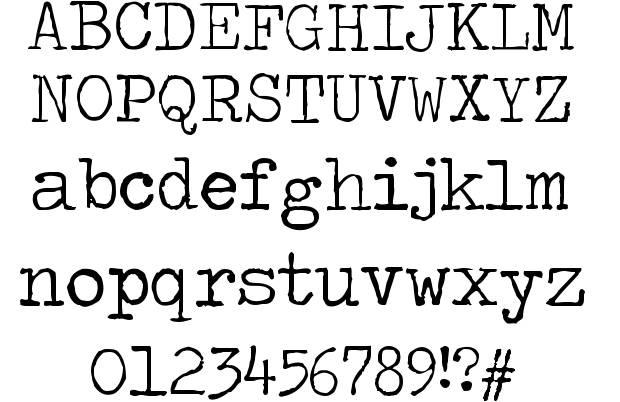 6 Rough Typewriter Font Images