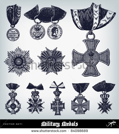 Vector Art of Military Medals