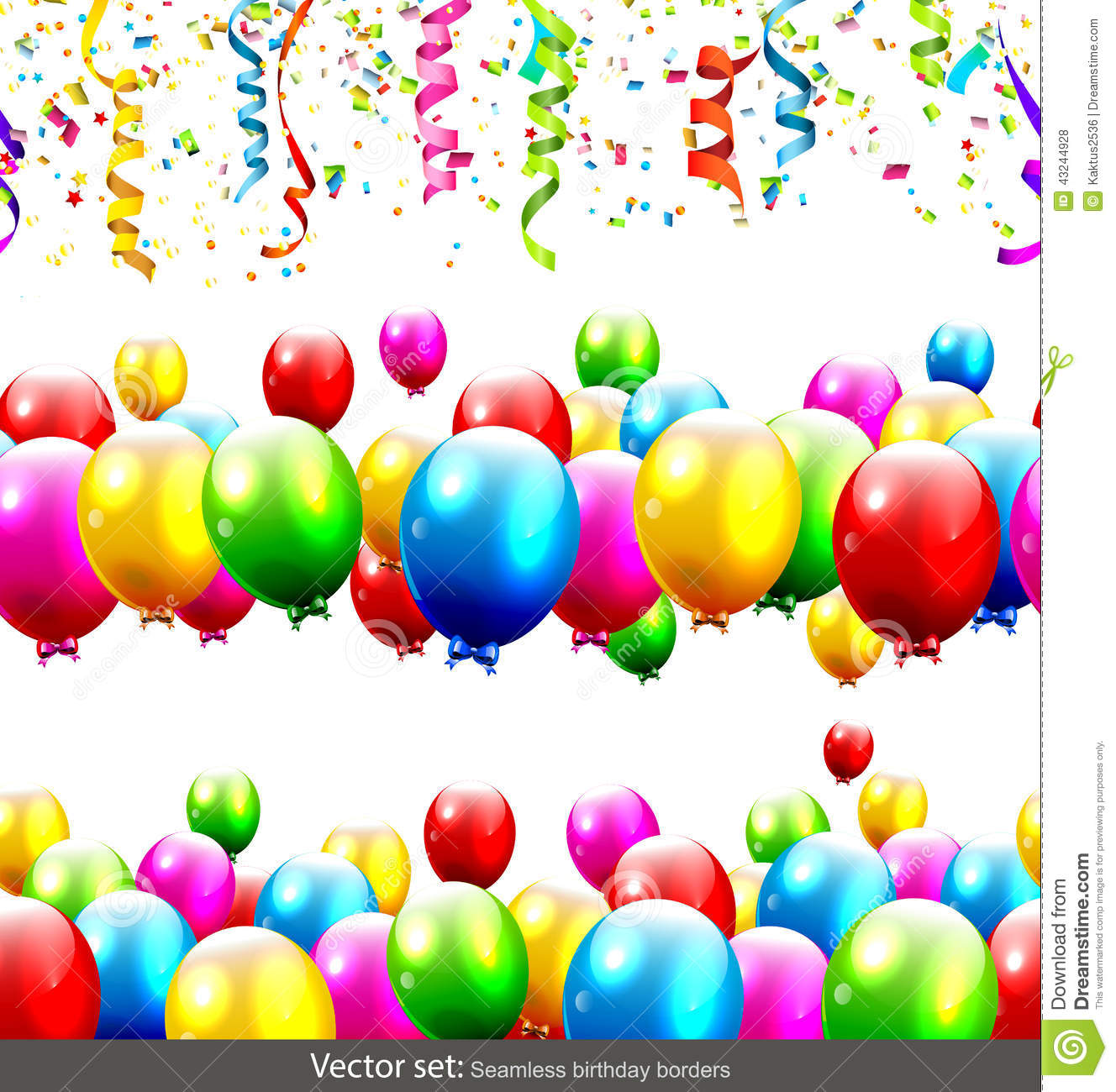 Vector Birthday Border