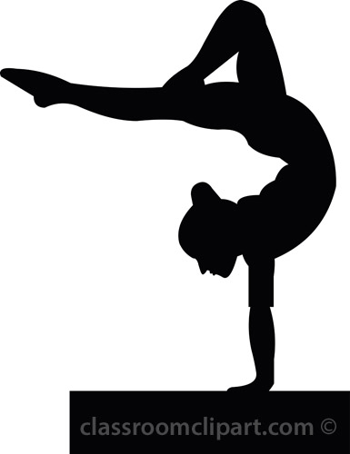 16 Gymnastics Silhouette Free Vector Art Images
